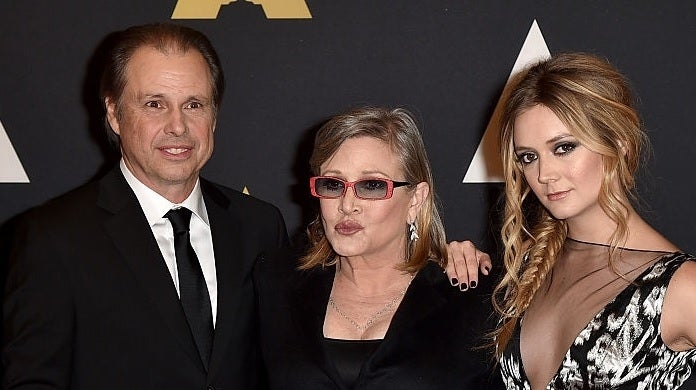todd fisher carrie fisher billie lourd getty images