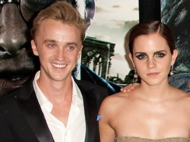 Emma Watson and Rumored Beau Tom Felton Reunite With 'Harry Potter' Co-Stars in Festive Holiday Photo