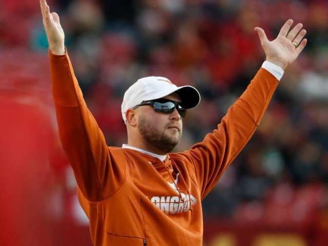 Texas Coach Tom Herman Celebrates Signing Class by Flipping Double-Birds