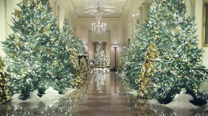white-house-christmas-trees_getty-Mark Wilson : Staff