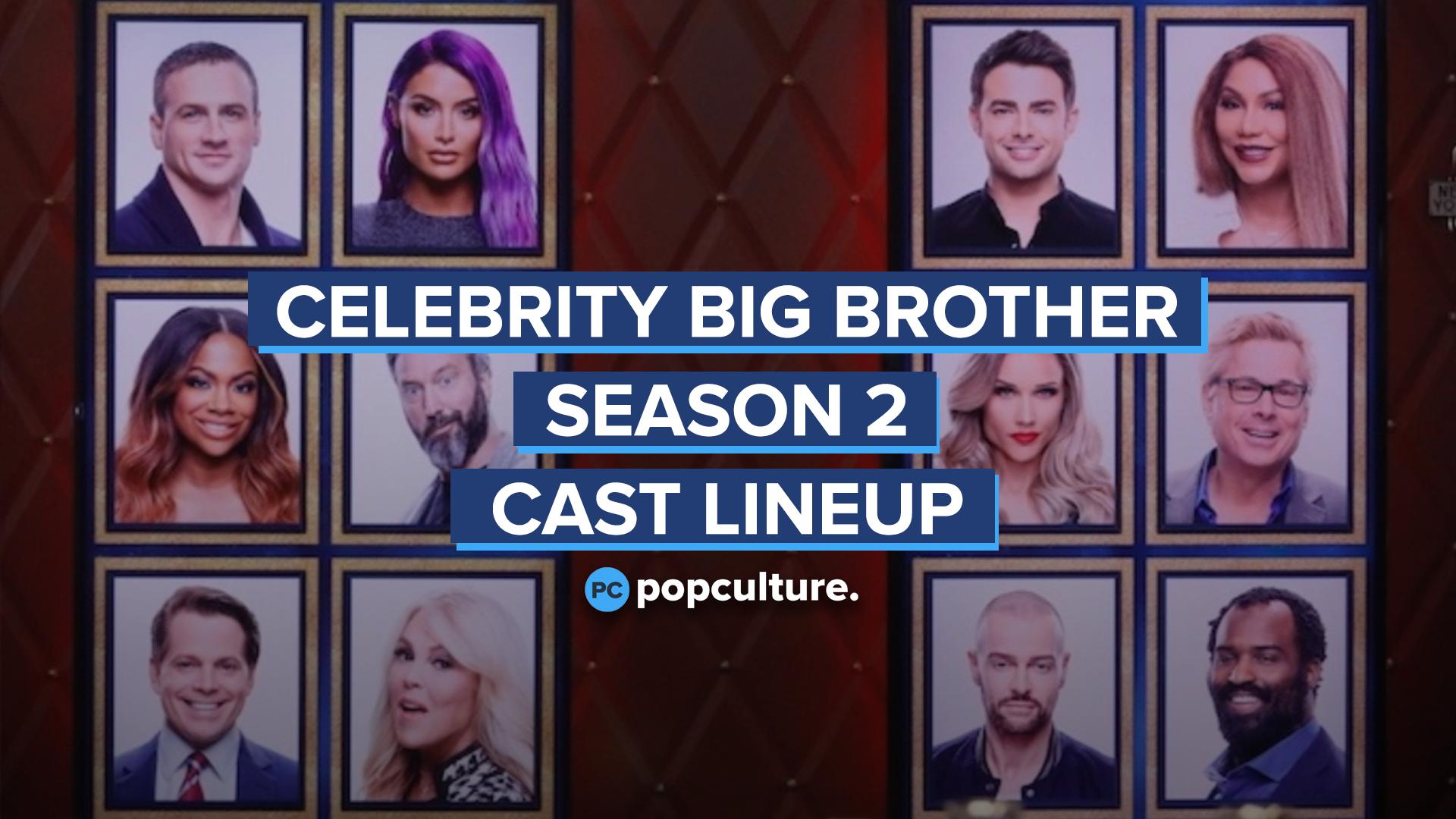 'Celebrity Big Brother' - 2019 Cast Lineup screen capture