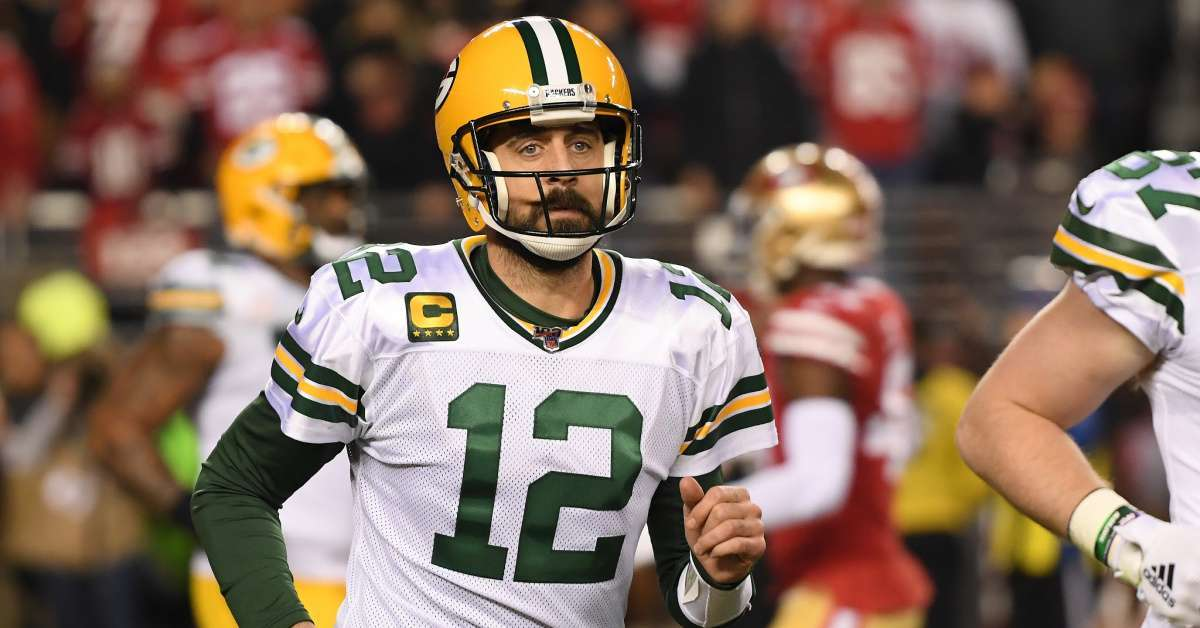 Aaron Rodgers questions God religious conversation Danica Patrick