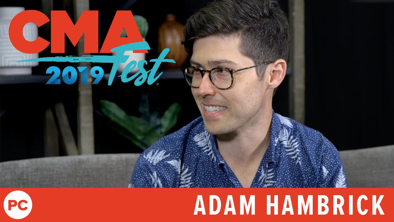 Adam Hambrick - CMA Fest 2019 Exclusive Interview screen capture