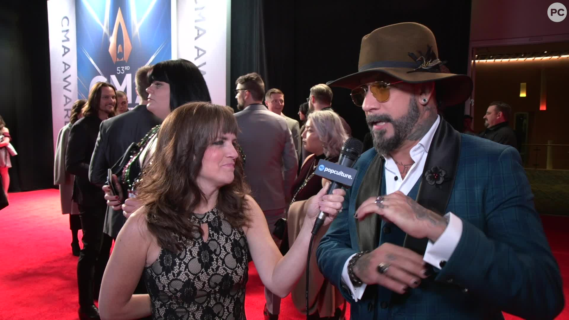 AJ McLean - 2019 CMA Awards screen capture