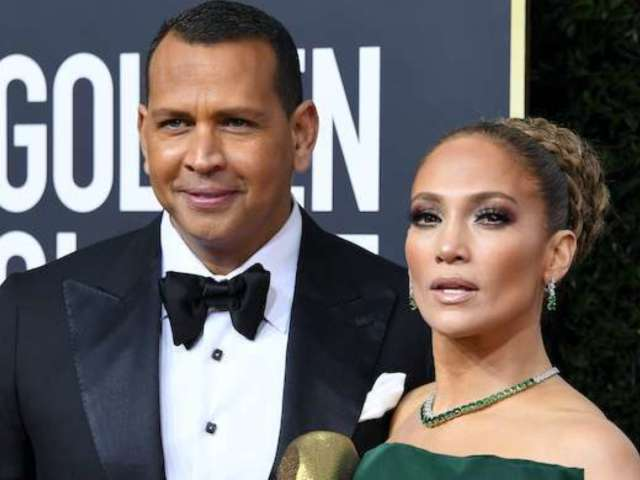 Alex Rodriguez Joked That He's Jennifer Lopez's Head of Security While on the Golden Globes Red Carpet