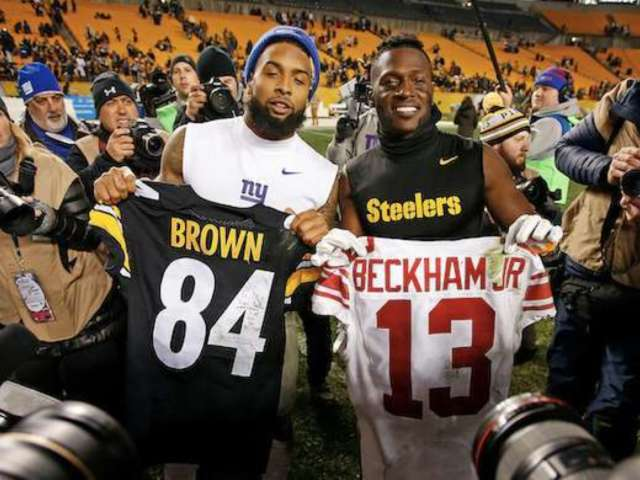 Antonio Brown Says He Wants to Drop a Song With Odell Beckham Jr. During the Super Bowl