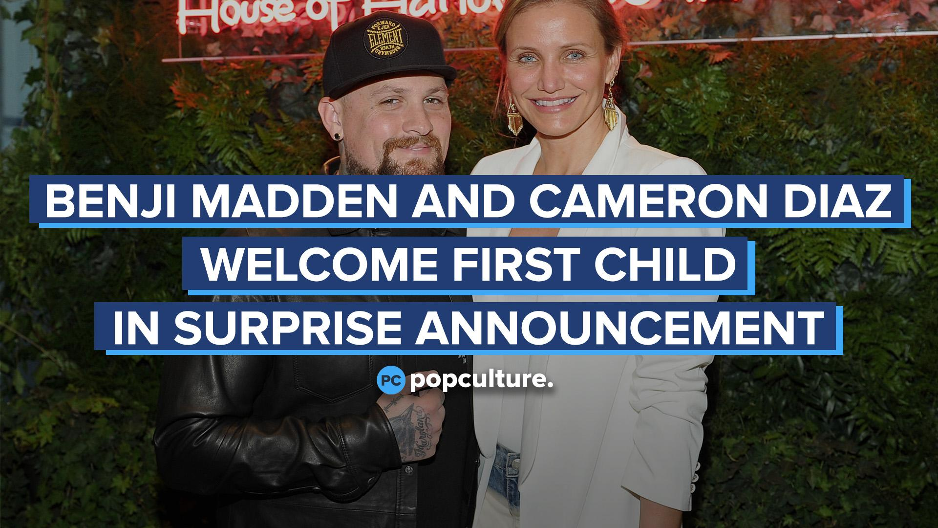 Benji Madden and Cameron Diaz Welcome First Child in Surprise Announcement screen capture