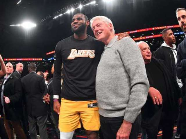 LeBron James Turns Heads With 'First Black President' Photo Alongside Bill Clinton