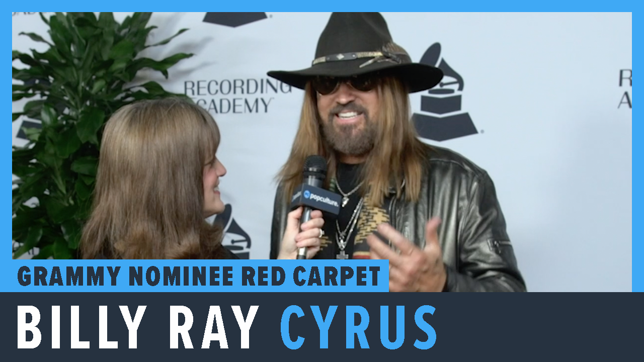 Billy Ray Cyrus - 2019 Grammy Party Nominee Red Carpet Interview screen capture