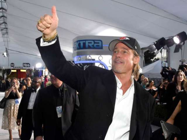 Brad Pitt Rocks Chiefs Hat at SAG Awards After Team's AFC Championship Win