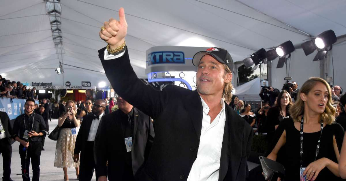 Brad Pitt Chiefs hat sag awards afc championship win