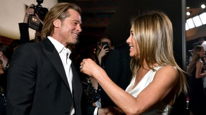 brad pitt jennifer aniston sag awards getty images