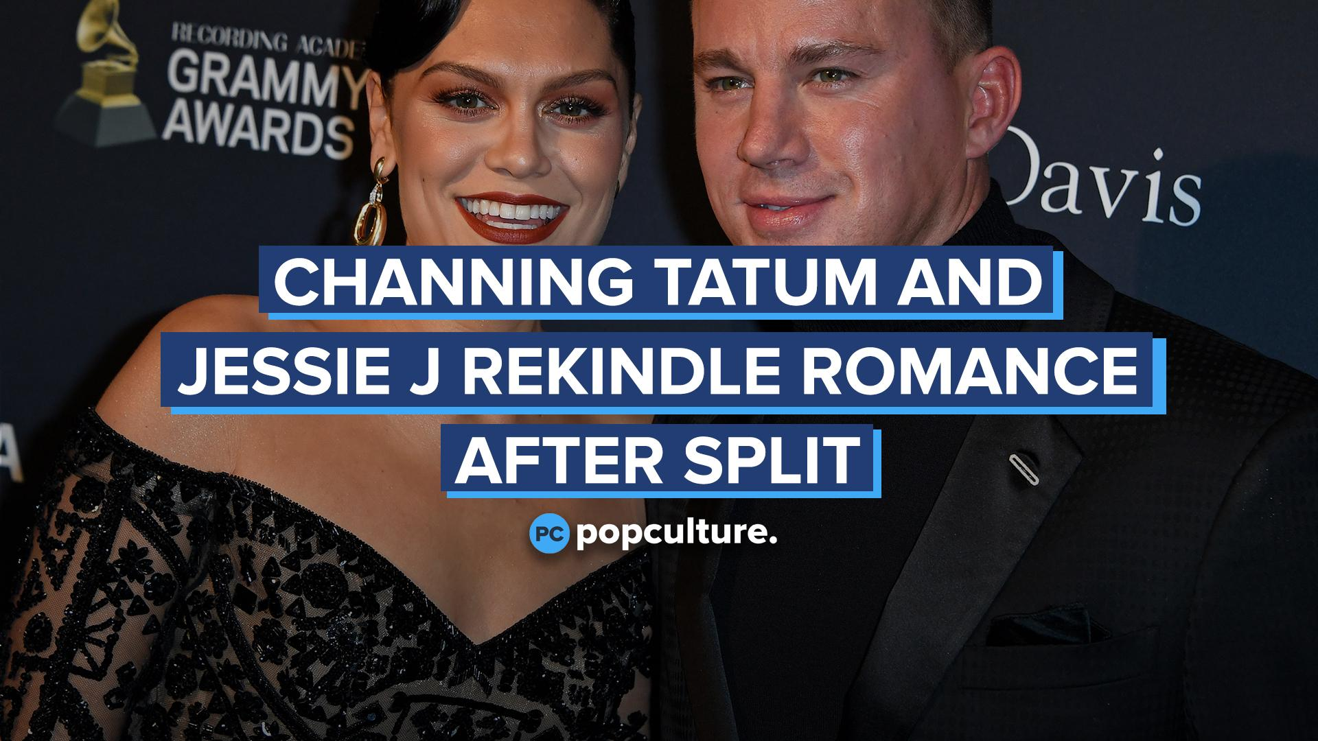Channing Tatum and Jessi J Rekindle Romance After Split screen capture