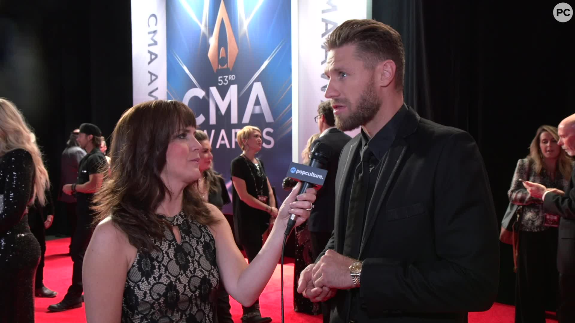Chase Rice - 2019 CMA Awards screen capture