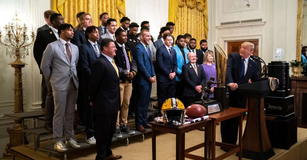 Donald Trump LSU Tigers football team greatest in college football history