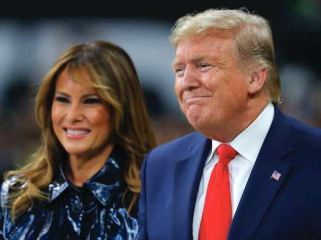 Watch Donald and Melania Trump Behind-the-Scenes Video Reveals Moment Right Before National Anthem