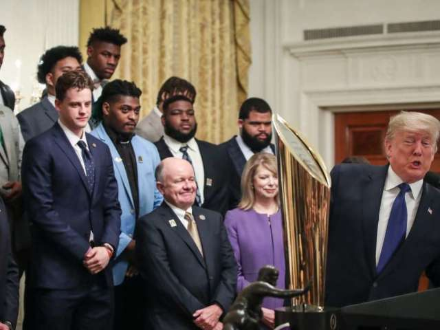 Watch: Donald Trump Welcomes LSU Tigers to White House After National Championship Win