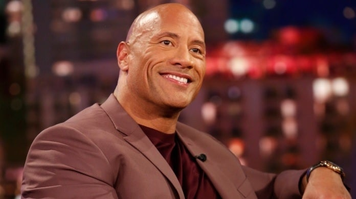 dwayne johnson jimmy kimmel getty images