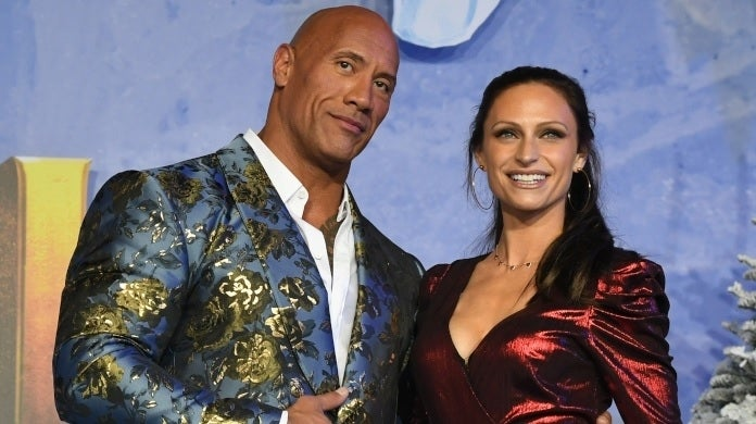 dwayne johnson lauren hashian getty images