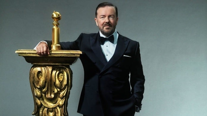 golden globes ricky gervais 2020 getty images nbc