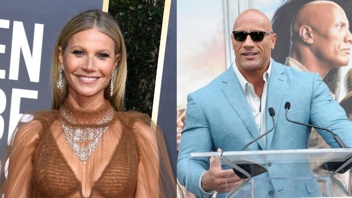 gwyneth paltrow dwayne johnson getty images