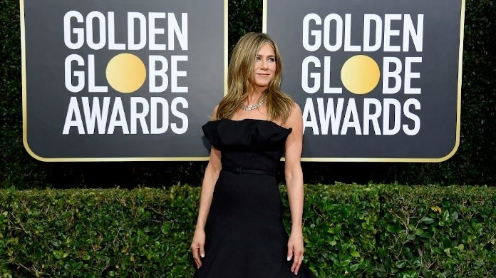 jennifer aniston golden globes 2020 getty images