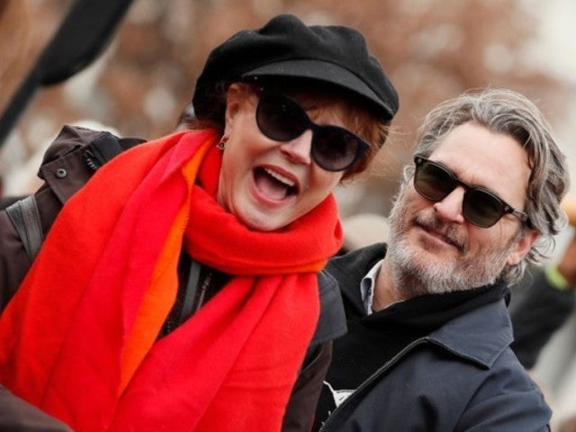Joaquin Phoenix Fans Erupt After Seeing Him Hold Susan Sarandon at the Fire Drill Friday Protest