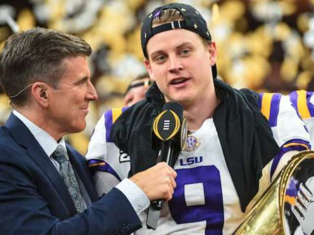 LSU QB Joe Burrow Reveals Triumphant Message After Defeating Clemson