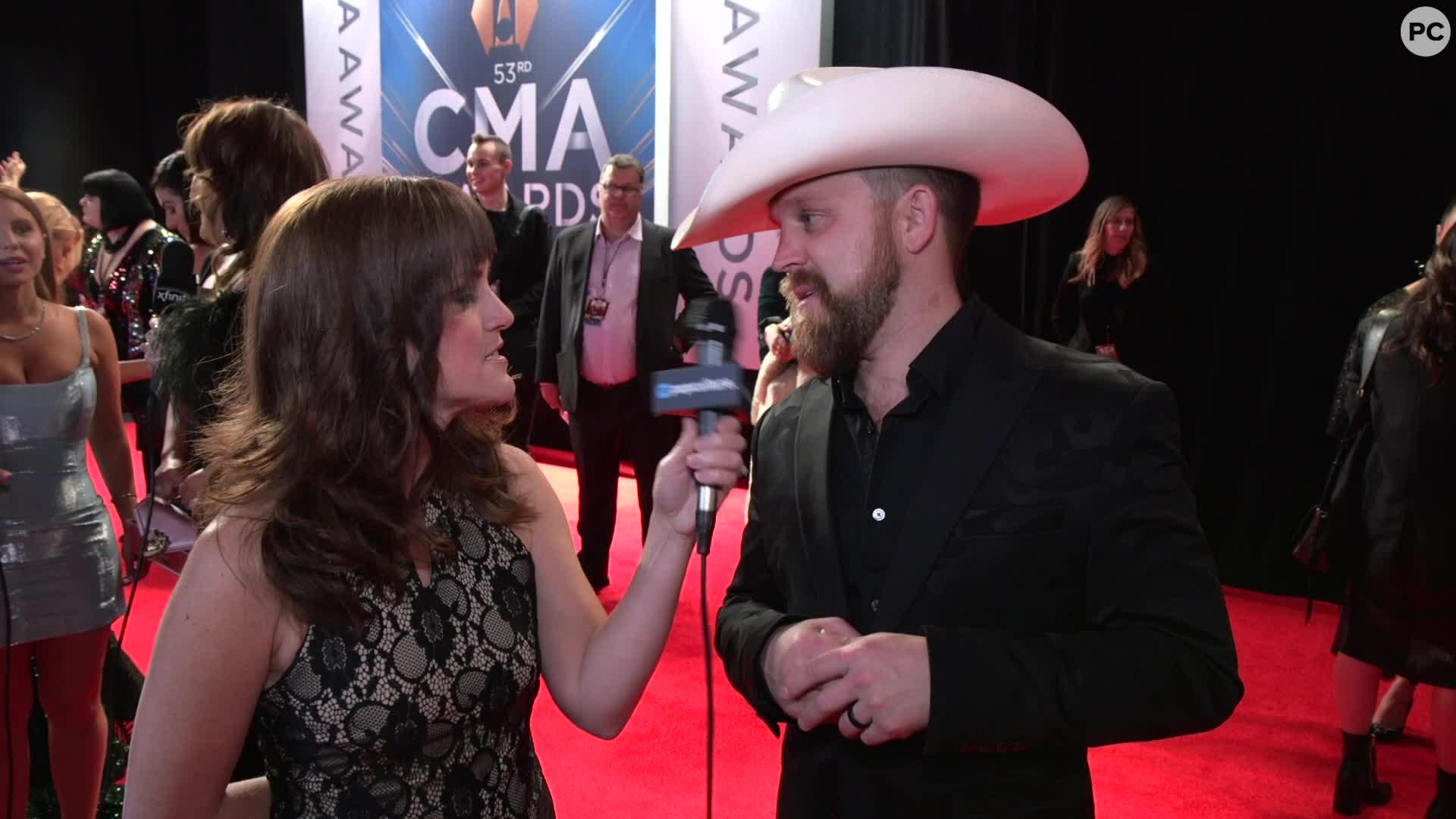 Justin Moore - 2019 CMA Awards screen capture