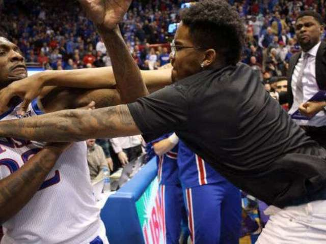 Kansas vs. Kansas State Game Erupts Into Brawl, Fists Fly After Player Gets Hacked