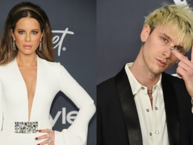 Kate Beckinsale Spotted Leaving Golden Globes Bash With Pete Davidson's Friend Machine Gun Kelly