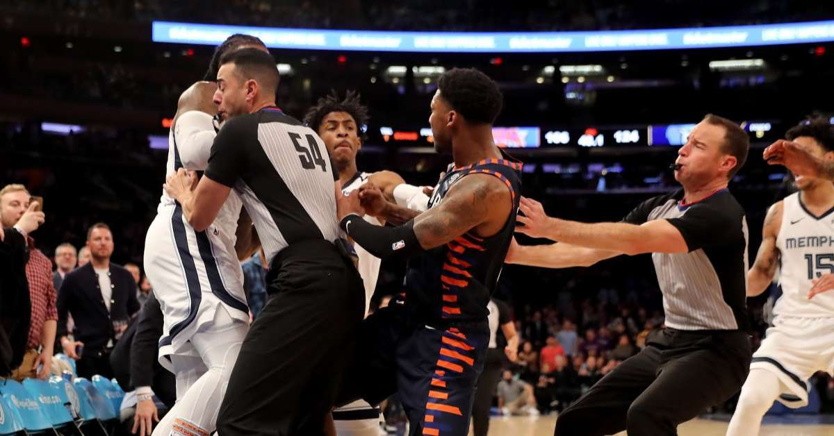 Knicks Grizzlies fight end of game