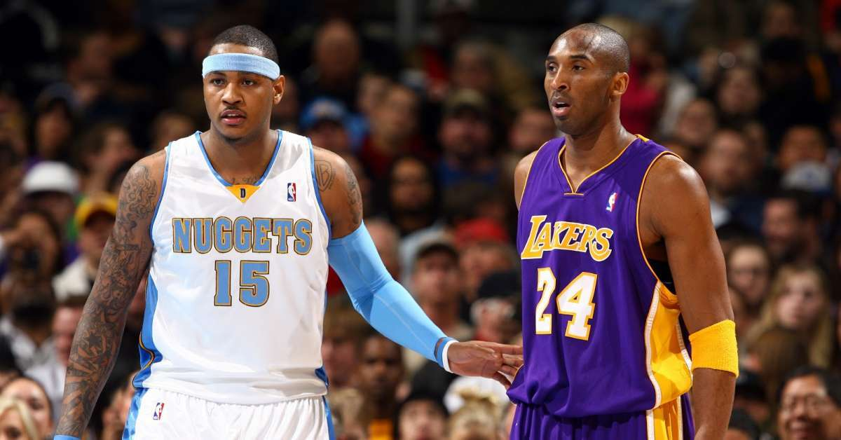 Kobe Bryant Carmelo Anthony opens up loss Lakers Legend