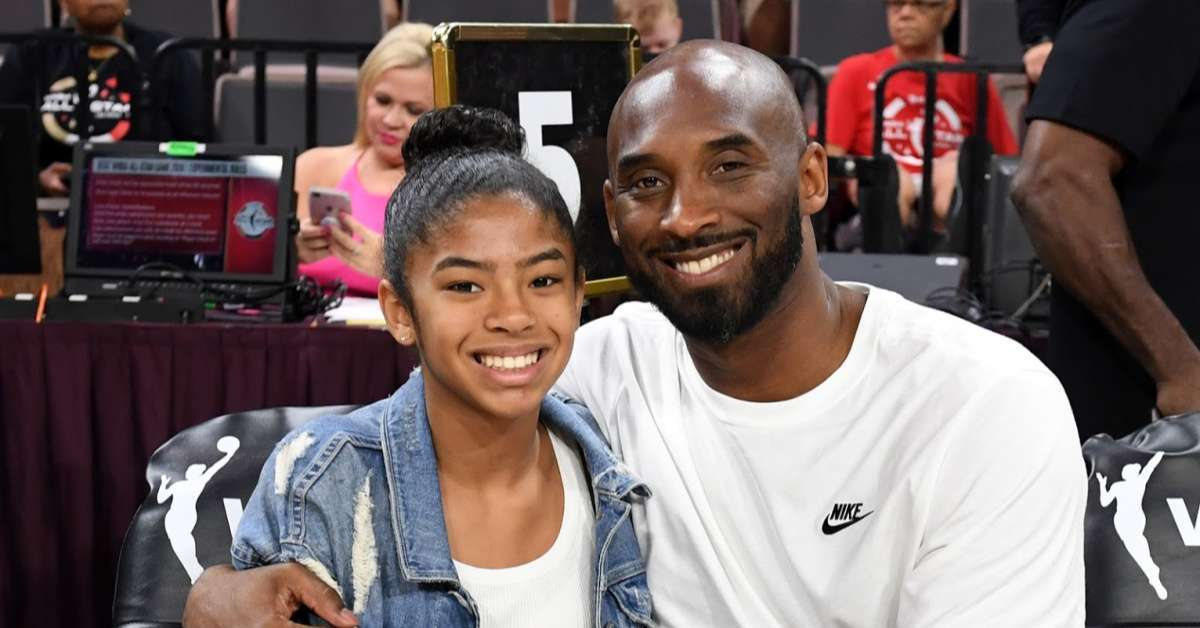 Kobe Bryant Tribute Girl Dad Lakers fans chills