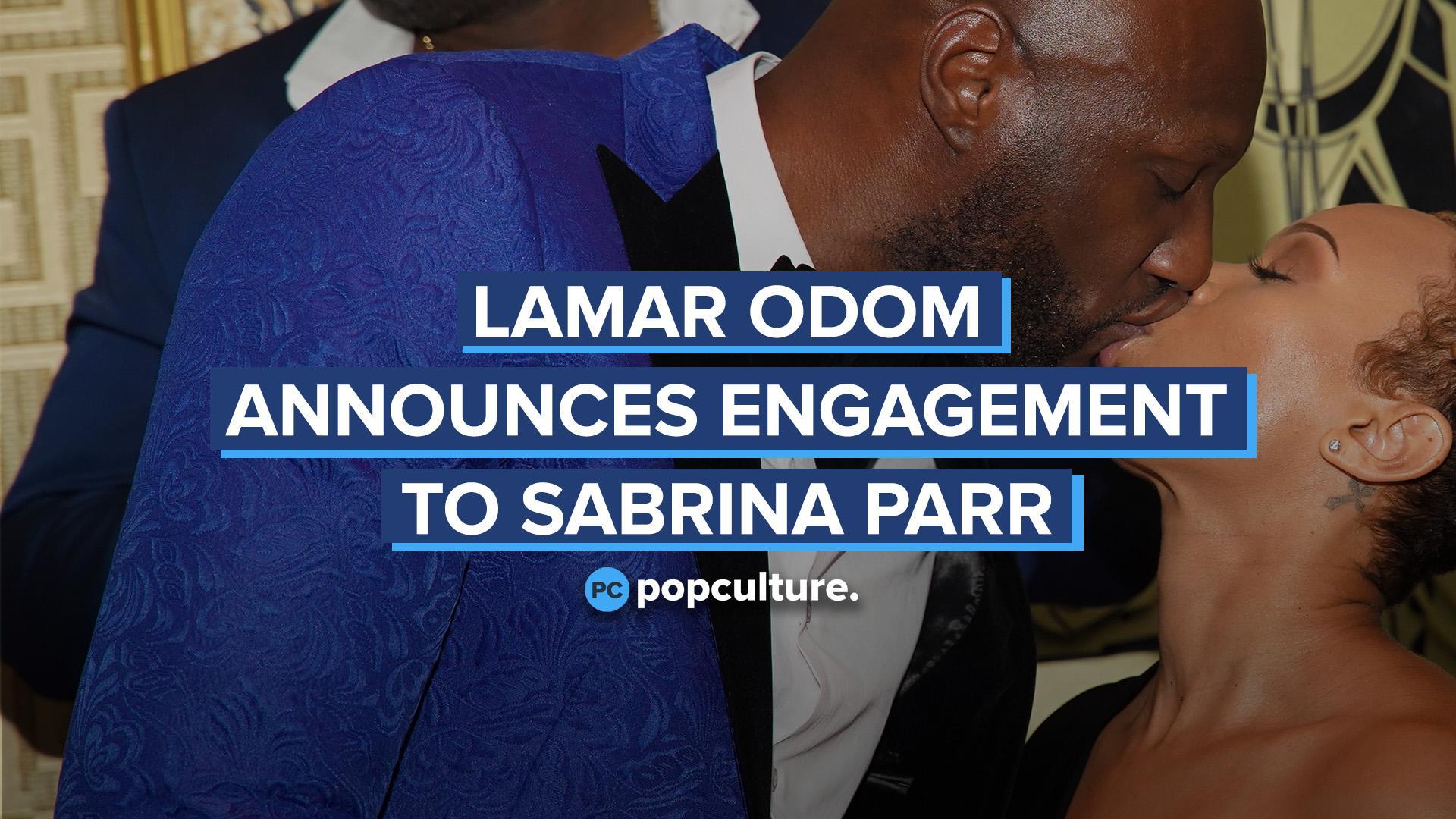 Lamar Odom Announces Engagement to Sabrina Parr screen capture