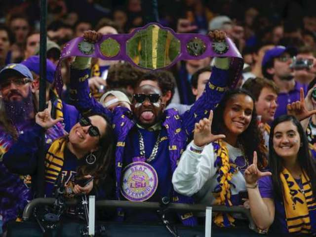 Watch: LSU Fans' Explicit 'Neck' Chant Captured on Live TV