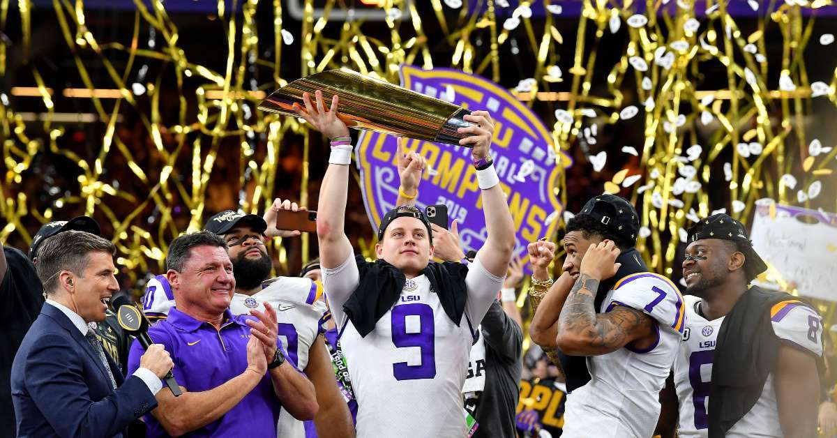 LSU Joe Burrow cigar national championship win