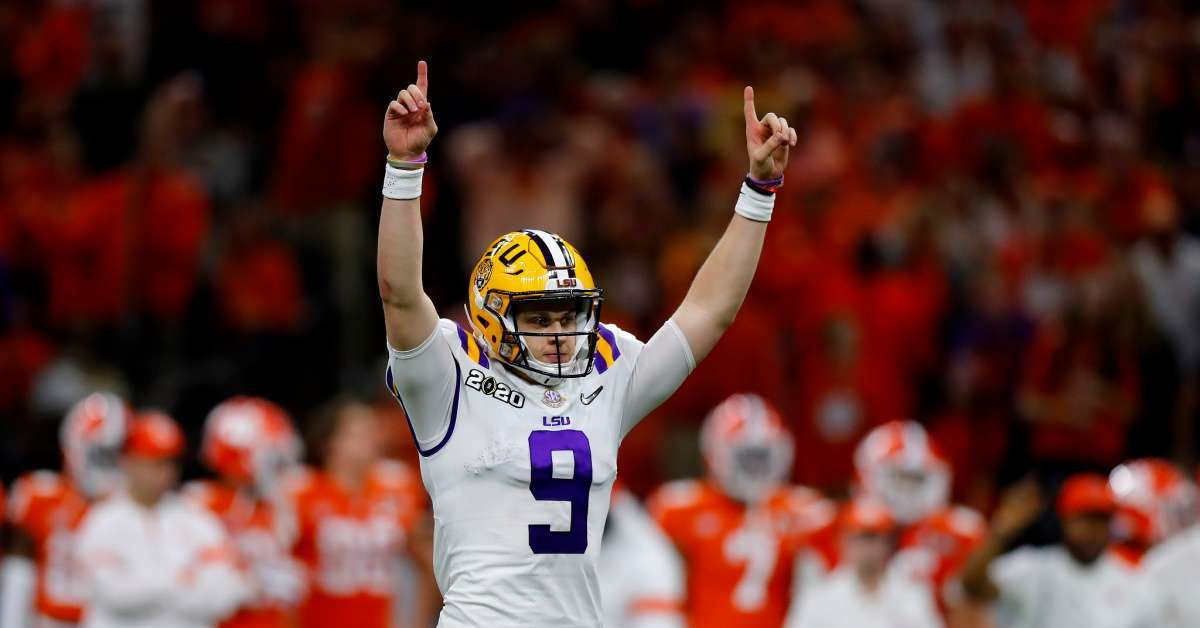 LSU Joe Burrow smokes big cigar win Clemson fans can't get over it