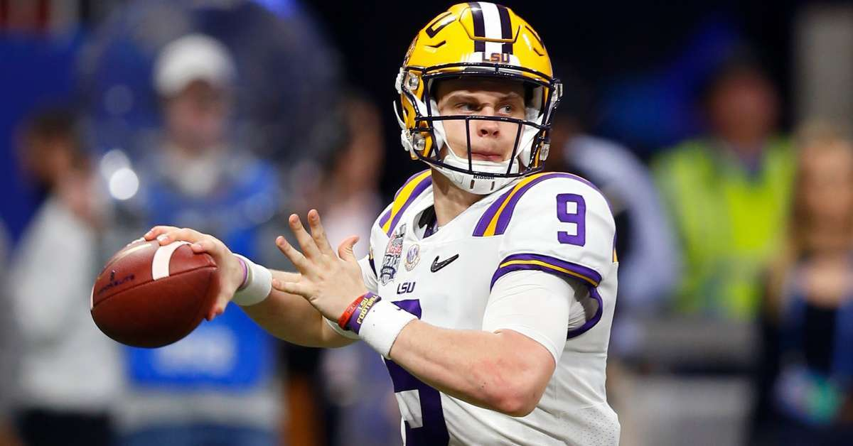 LSU QB Joe Burrow reaction meeting Saints QB Drew Brees first time