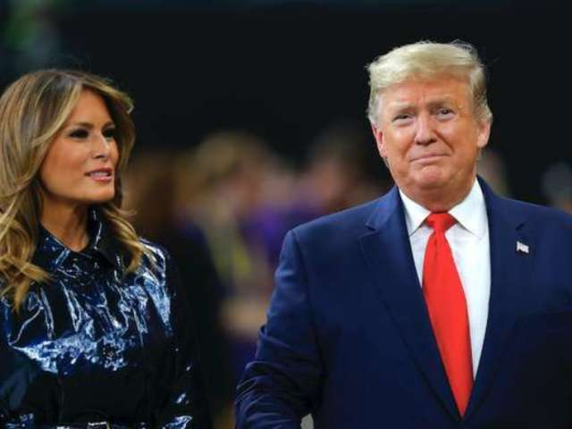 Melania Trump's Coat During National Championship Causes Twitter Uproar