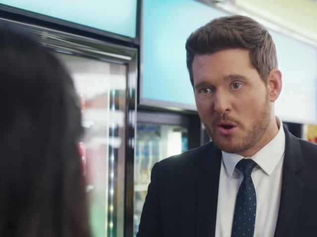 Michael Buble vs bubly - Super Bowl Commericial