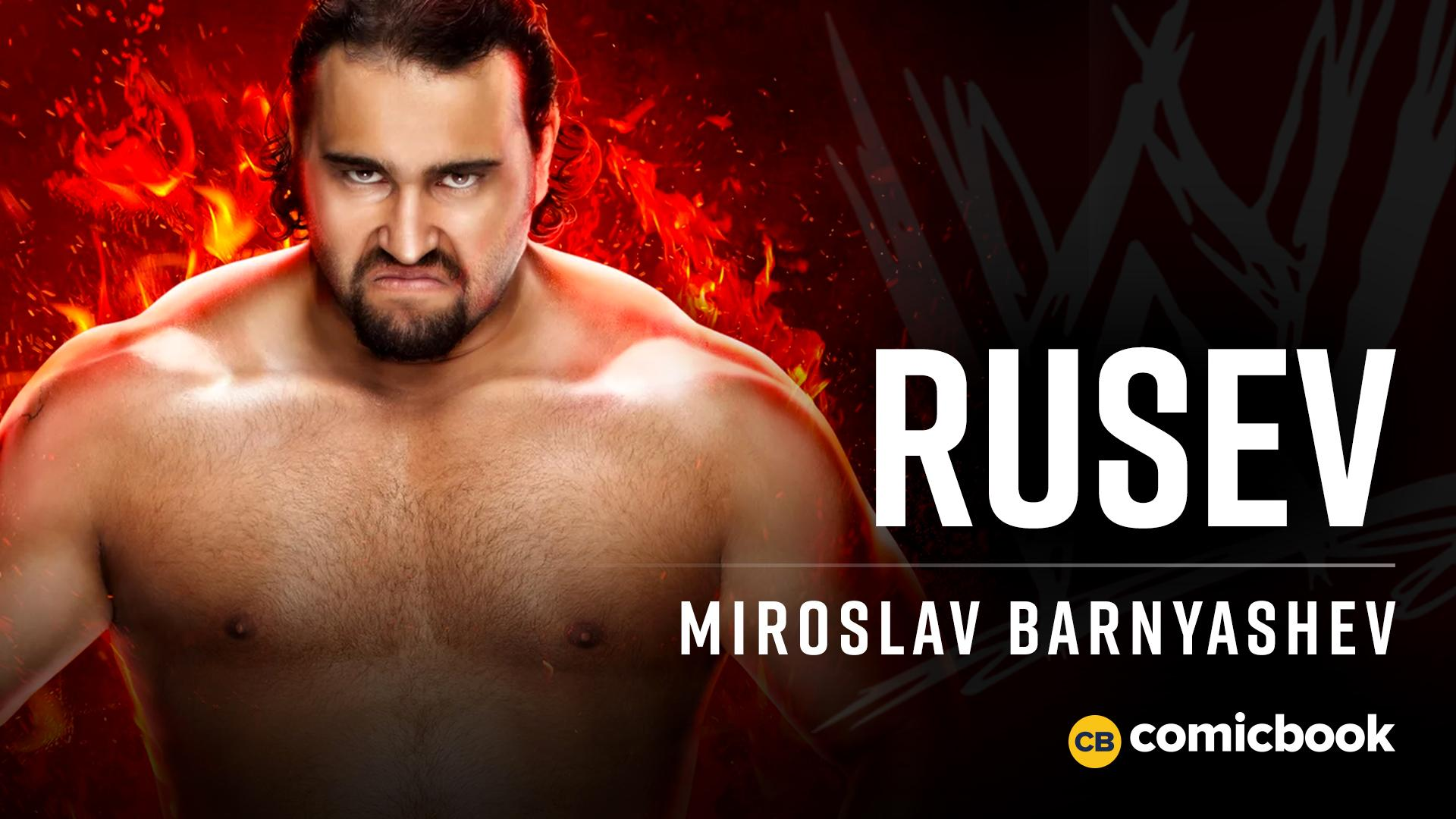 Miroslav Barnyashev (Rusev) - ComicBook.com Exclusive WWE Interview screen capture
