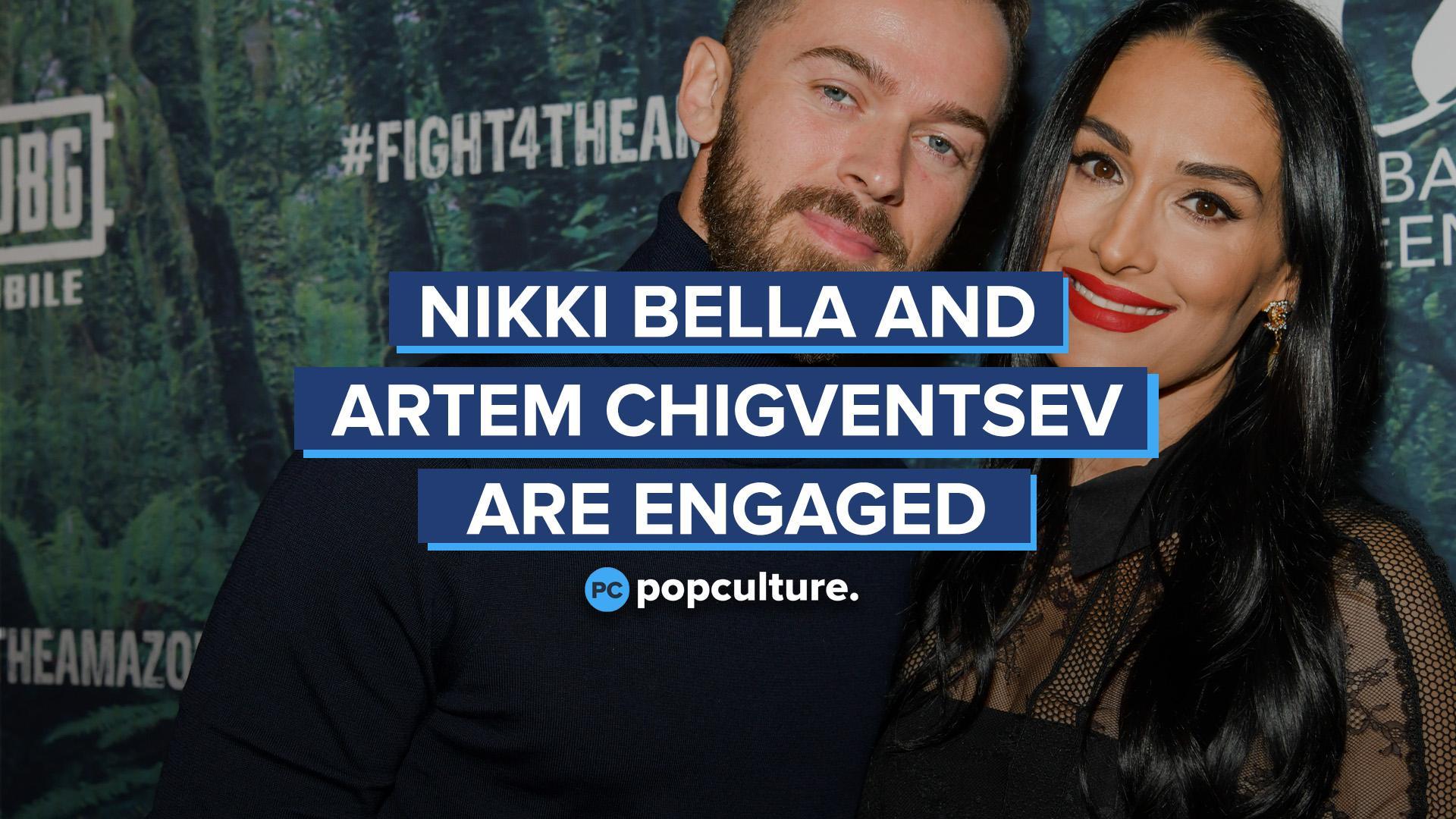 Nikki Bella and Artem Chigventsev Announce Engagement screen capture