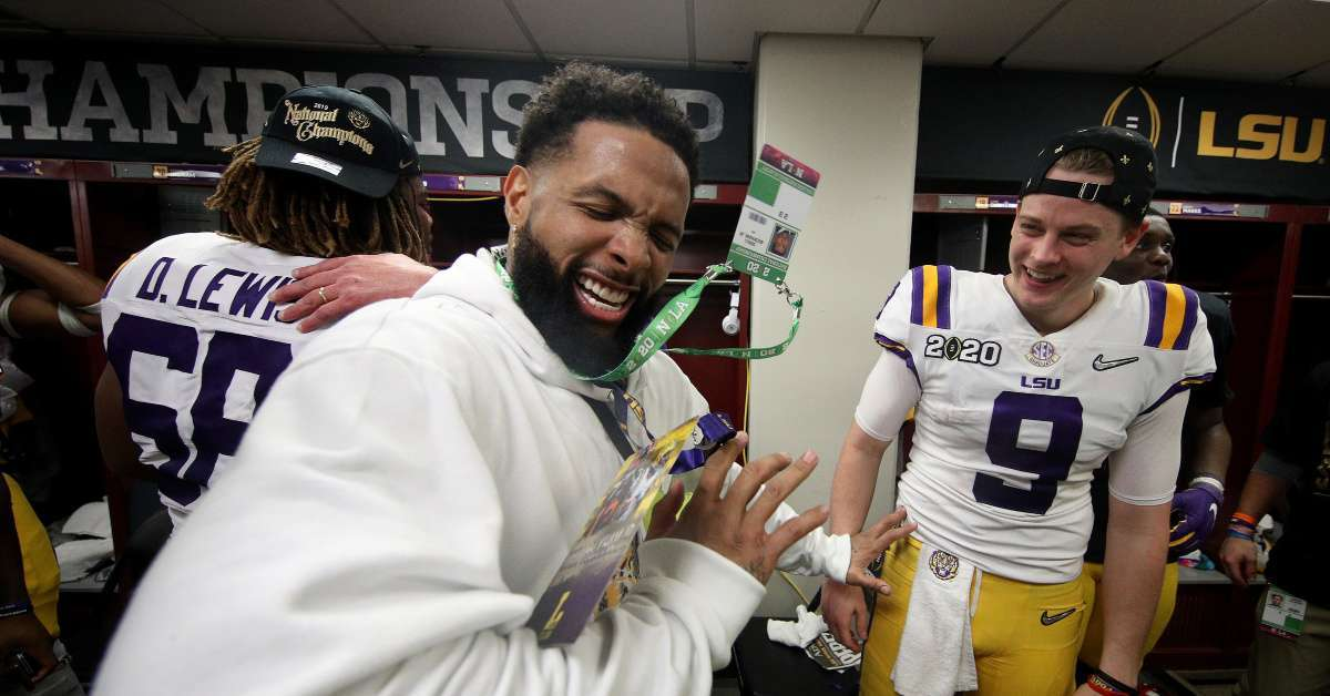 Odell Beckham arrest warrant LSU celbration
