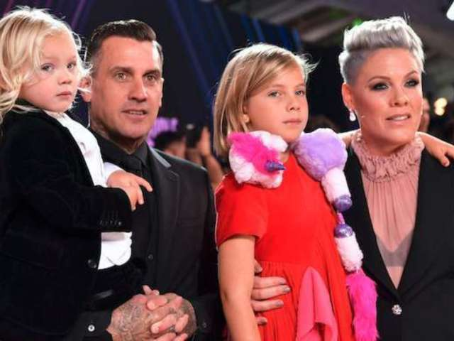 Watch: Carey Hart Takes Wife Pink and Their Kids on Moto Outing