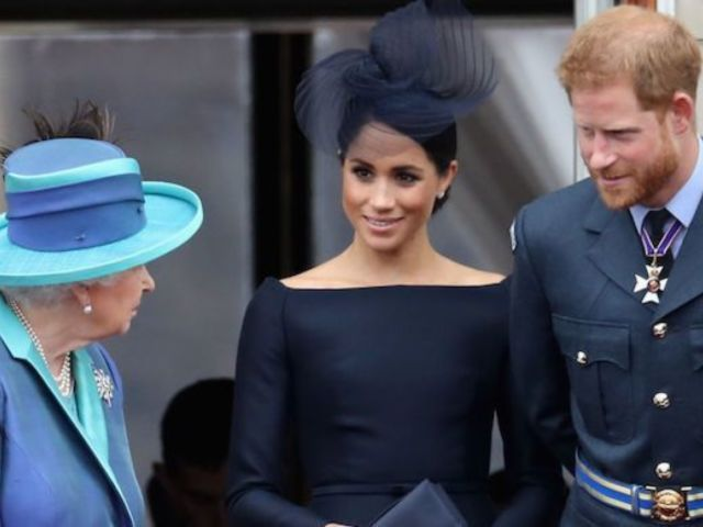 Queen Elizabeth Reportedly Almost Stripped Prince Harry and Meghan Markle of Duke and Duchess Titles Amid Royal Exit