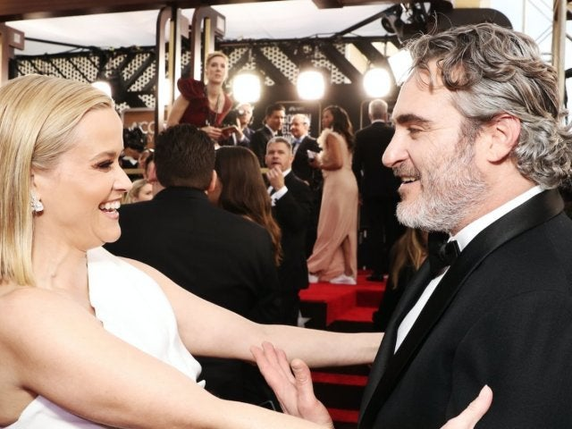 Golden Globes 2020: Reese Witherspoon and Joaquin Phoenix Have 'Walk the Line' Reunion on Red Carpet