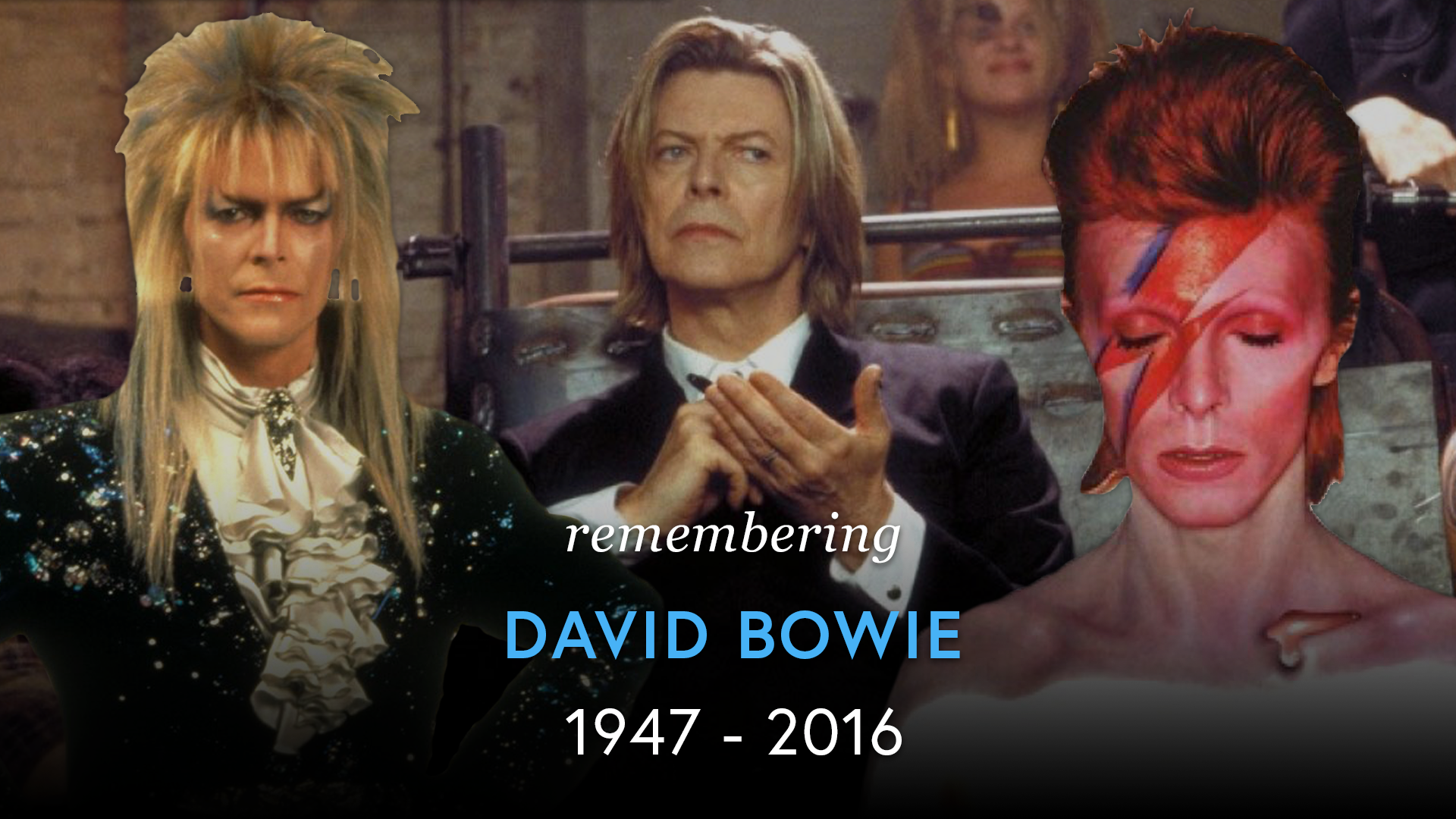 Remembering David Bowie (1947 - 2016) screen capture