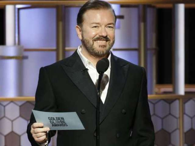 Ricky Gervais Tells Celebrities to 'F off' and They 'Know Nothing About the Real World' in NSFW Golden Globes Segment