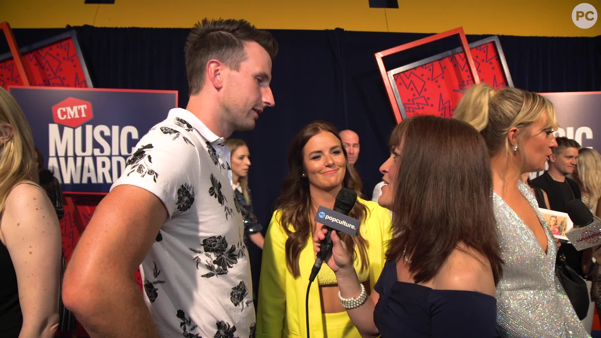 Russell Dickerson - 2019 CMT Awards Red Carpet screen capture